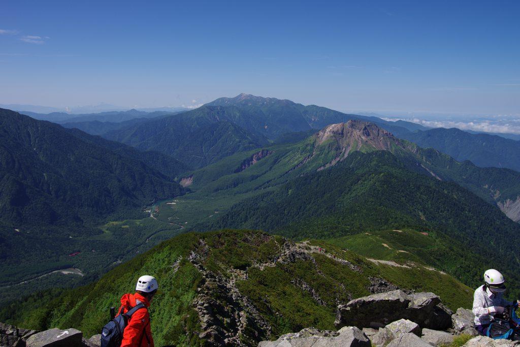 西穂独標から上高地、焼岳、乗鞍岳