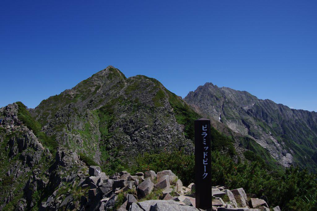 ピラミッドピークと西穂高岳