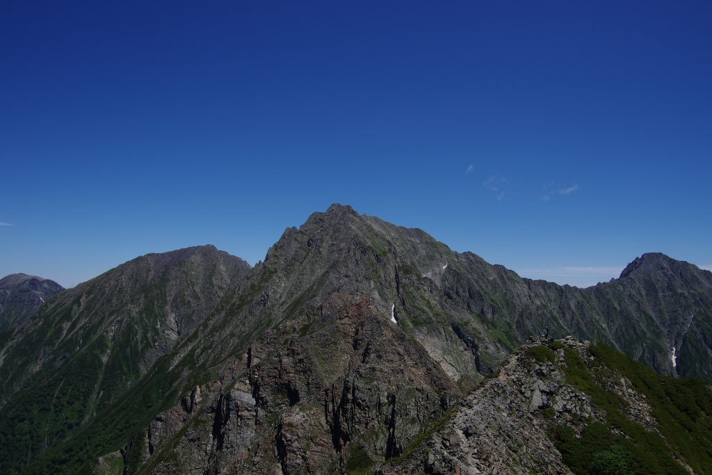 西穂高岳から間ノ岳-奥穂高岳