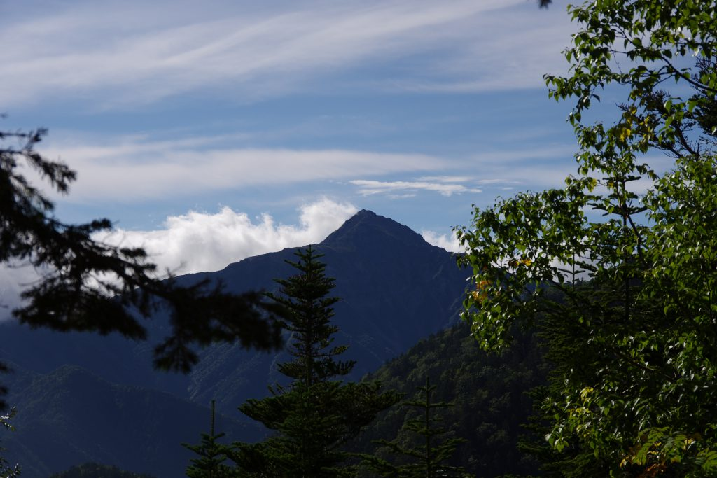 仙丈ケ岳登山道から北岳