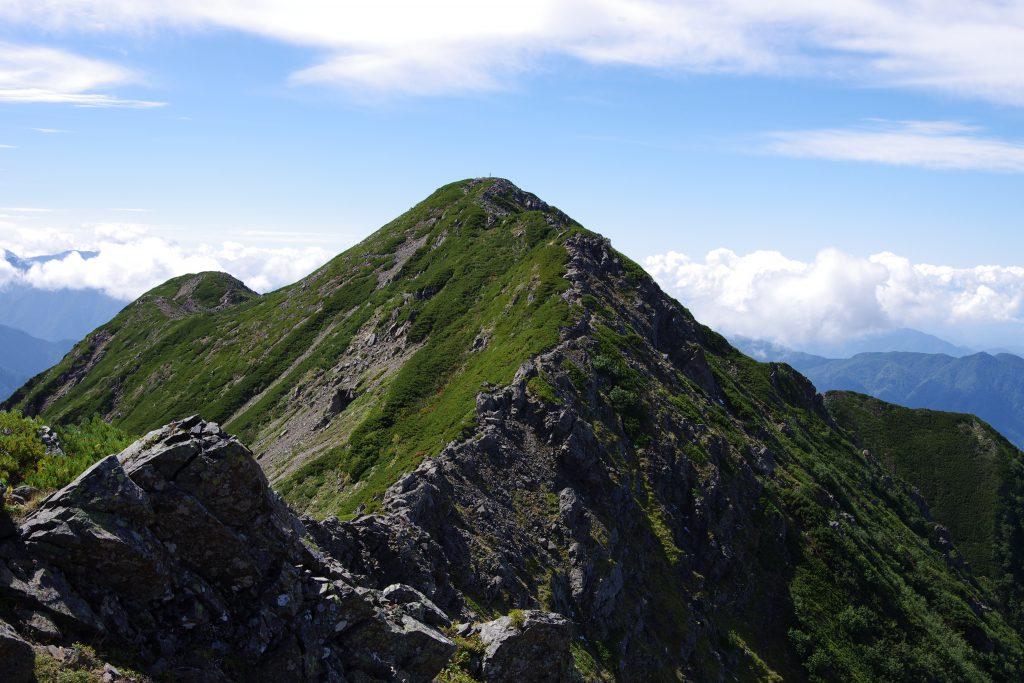 大仙丈ケ岳への岩稜