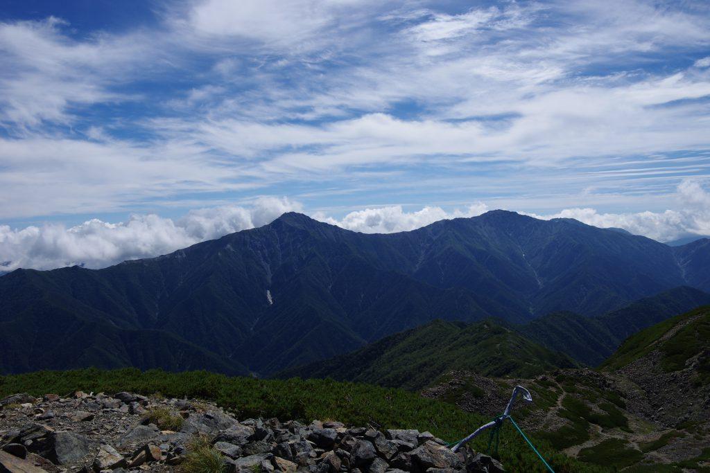 富士山、北岳、間ノ岳、