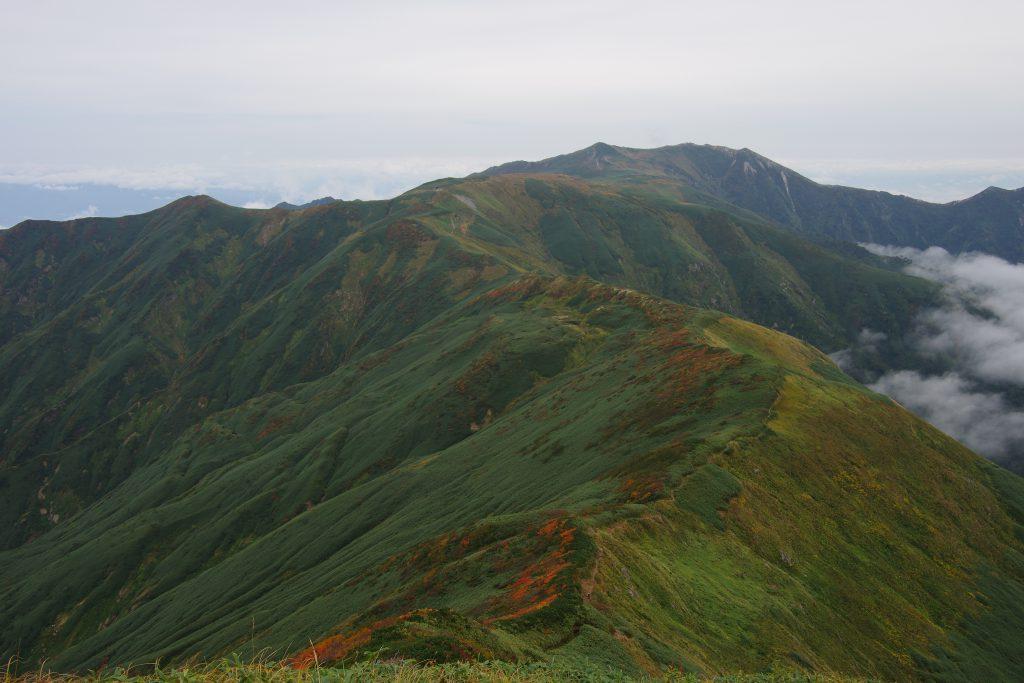 大日岳から飯豊山